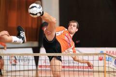 Blocken Jiri Doubrava - Fußballtennis Lizenzfreie Stockfotos