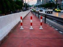 Blockera vägen på bron royaltyfri foto