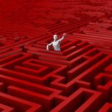 blockerad maze Vektor Illustrationer