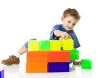 blockerar barnfärgspelrum royaltyfri fotografi