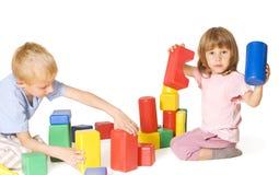 blockerar barnspelrum Arkivbild