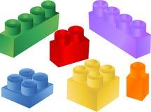 blockerar den färgrika vektorn royaltyfri illustrationer