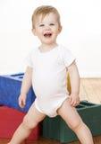 blockerar den leka litet barn Royaltyfria Foton