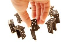 blockerar domino gjord stonehenge Royaltyfri Foto