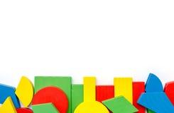 blockerar färgrikt trä Royaltyfri Fotografi