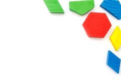 blockerar färgrikt trä Arkivfoton