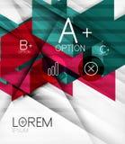 Blockerar geometrisk abstrakt bakgrund Royaltyfria Bilder