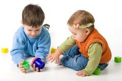 blockerar litet barnspelrum Royaltyfri Bild