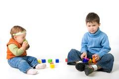 blockerar litet barnspelrum Royaltyfria Bilder