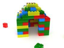 blockerar plastic tegelstenar Arkivbild