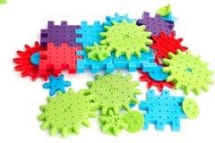 blockerar plastic toywhite Royaltyfria Foton