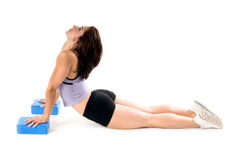 blockerar yoga Royaltyfri Fotografi