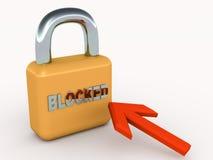 Blockerat Royaltyfria Foton