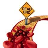 Blockerat artärläkarundersökningbegrepp stock illustrationer