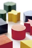 blocket shapes trä Arkivfoton