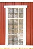 Blockglas auf der Wand Stockbilder
