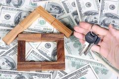 Blockhaus auf der Dollartischdecke Lizenzfreie Stockfotos