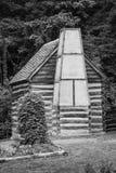 Blockhaus bei Mount Vernon - Schwarzweiss Stockfotografie