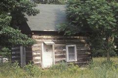 Blockhaus, blauer Ridge Parkway, VA Stockbild