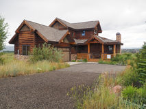 Blockhaus-Colorado-Haus Stockbilder