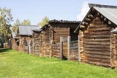 Blockhaus in der Russischen Föderation Stockbild