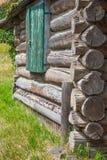 Blockhaus-Detail Stockbild
