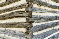 Blockhaus-Eckdetail lizenzfreies stockfoto