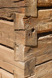 Blockhaus-Eckdetail Lizenzfreie Stockfotografie