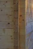 Blockhaus-Eckdetail Lizenzfreie Stockfotos