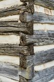Blockhaus-Eckdetail stockfotografie