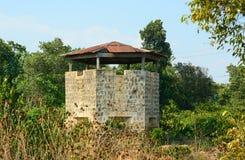 Blockhaus gelegen auf dem Hügel in Dalat Lizenzfreie Stockbilder