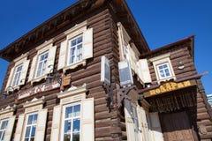 Blockhaus im Irkutsk Russland Stockfotografie