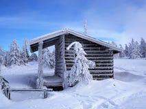 Blockhaus, Jizera-Berge, Polen Lizenzfreie Stockfotos