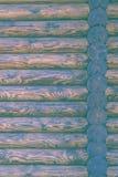 Blockhaus-oder Scheunen-unbemalter ausgeschiffter Wand-strukturierter horizontaler Hintergrund mit Kopien-Raum Lizenzfreie Stockfotografie
