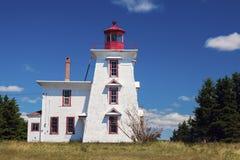 Blockhaus-Punkt-Leuchtturm auf Prinzen Edward Island Stockbilder