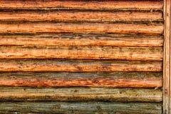 Blockhaus-Wand-Hintergrund Stockbilder