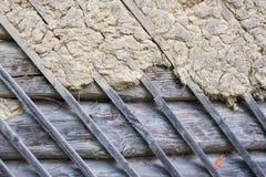 Blockhauswand, Hintergrund Lizenzfreie Stockfotos