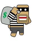 Blockhead robber Stock Photos