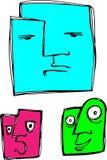 Blockheads Stock Image