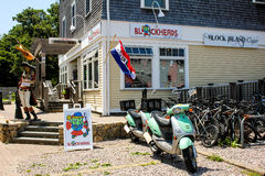 Blockheads of Block Island, RI Stock Images
