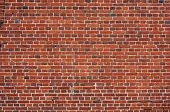 Blockhintergrund. alte Backsteinmauer von roten Backsteinen. Stockbild