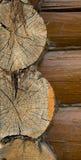 Blockhouse di legno Immagine Stock