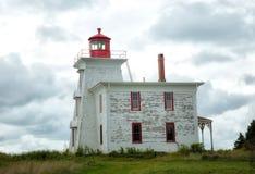 Blockhouse lighthouse in Prince Edward island Stock Images
