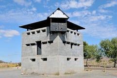 Blockhouse north of Laingsburg at the Geelbek River railway brid Royalty Free Stock Image