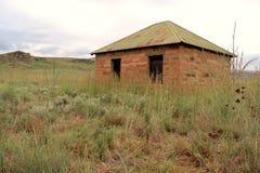Blockhus i Sydafrika Arkivfoto