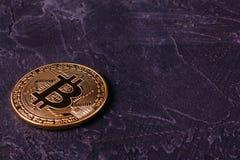 Blockieren des Bergbaus der Schlüssel-Währung Bitcoin Stockfotos