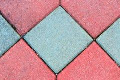 Blockiert alte Geometriebeschaffenheit, schönen Hintergrund des Steinziegelsteinboden-Zementes Stockbilder