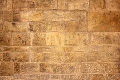 Blockiert beige Schmutzstein der Weinlese Wand, Beschaffenheit oder Hintergrund Stockbild