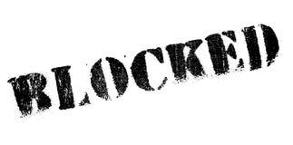 Blockierter Stempel Lizenzfreie Stockfotografie