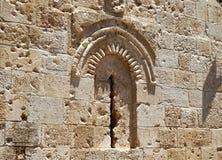 Blockiertes Fenster in Jerusalem Stockfotografie
